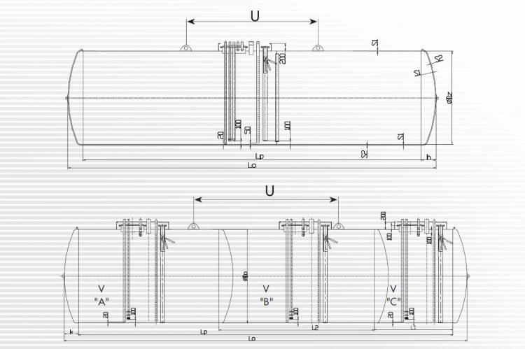 Unterirdische Kraftstofftanks - Zeichnung